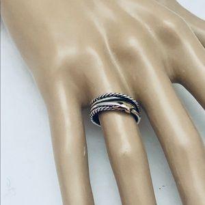 David Yurman 6 Single X Crossover Ring …
